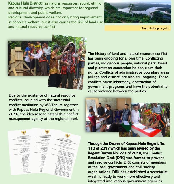 Leaflet-Desk Resolution Konflik (DRK) Kapuas Hulu Kalimantan Barat