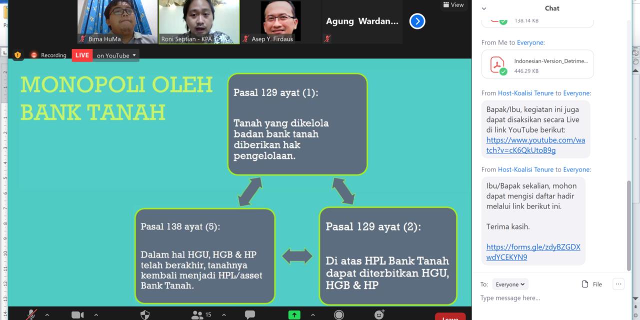 Online Media Briefing-Di Tengah Krisis COVID-19, Undang-Undang Baru yang Mengorbankan Hak Masyarakat Adat dan Komunitas Lokal: Perlindungan atas Wilayah dan Tanahnya Melemah Saat Masyarakat Adat dan Masyarakat Lokal di Asia Memerangi COVID-19